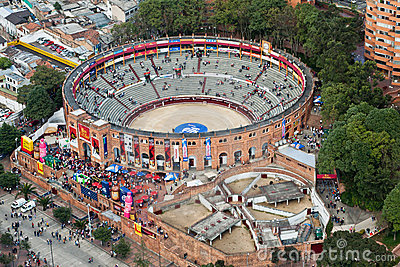 Bullfight Arena in Bogota Colombia Editorial Stock Image