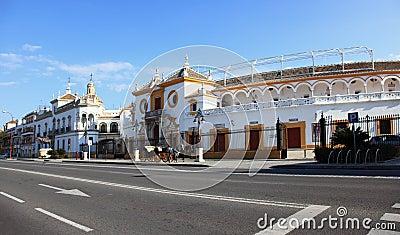 Bullfight arena outside