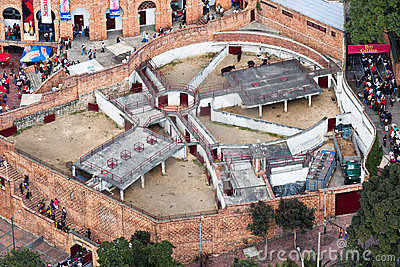 Bullfight Stable in Bogota Colombia Editorial Stock Photo