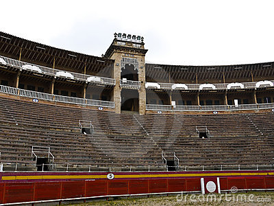 Bullfighting arena puerta de palma , Spain