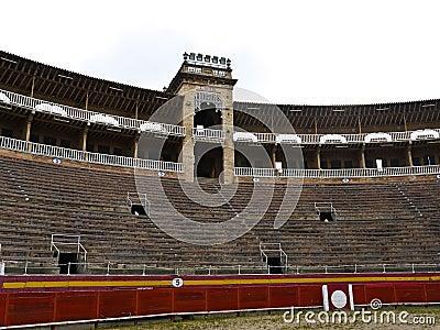 Bullfighting arena puerta de palma , Spain
