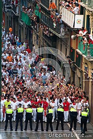 Bullrunning, Pamplona Editorial Image
