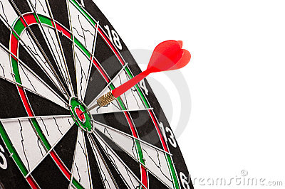 Bulls eye on a dart board