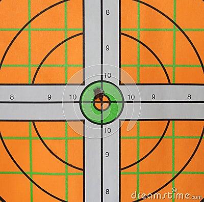 Bullseye Bullet Hole