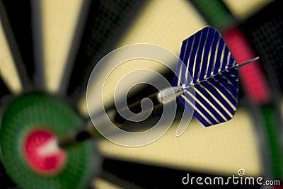 Bullseye dart on dartboard