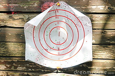 Bullseye Of Paintball Game Royalty Free Stock Images - Image: 19867199