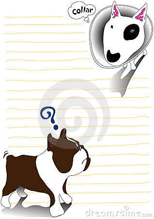 Bullterrier and bulldog note paper