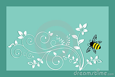 Bumble bee with Foliage