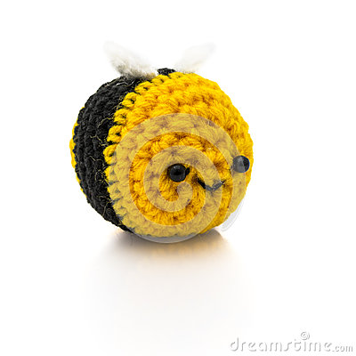 Free Bumblebee Crochet Royalty Free Stock Photos - 50134758