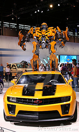 BUMBLEBEE, heroic AUTOBOT based on Chevrolet Camar Editorial Image