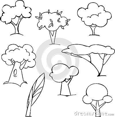 Bäume eingestellt