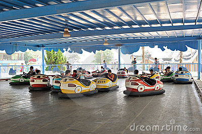 Bumper car game Editorial Photo