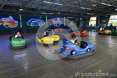Bumper cars Editorial Photography