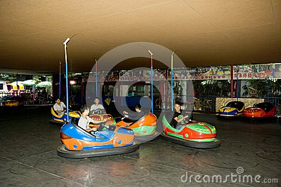 Bumper cars Editorial Stock Image