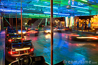 Bumper Cars at Night