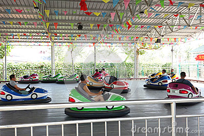 bumper cars in park Editorial Photography