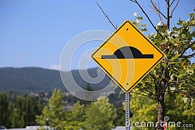 Bumper road sign
