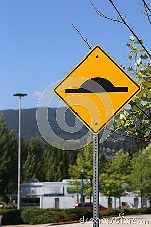 Bumper traffic sign