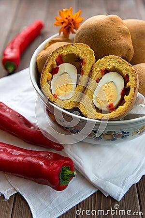 Bun with egg surprise