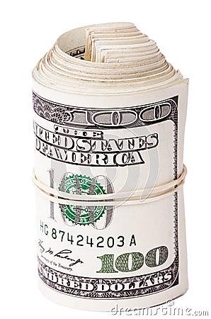 Roll of 100 US$ Bills