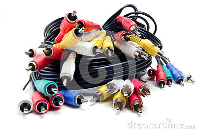 A Bunch of Audio Video Cables