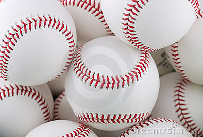 Bunch of baseballs