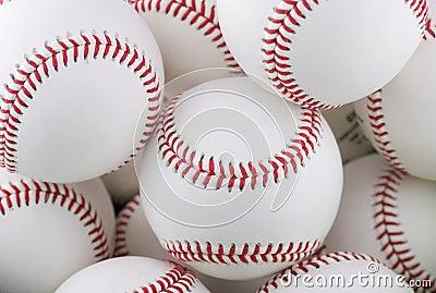 Bunch of baseballs