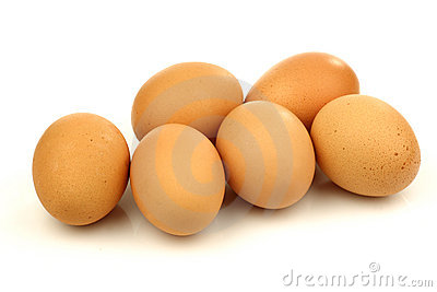 Bunch of brown eggs