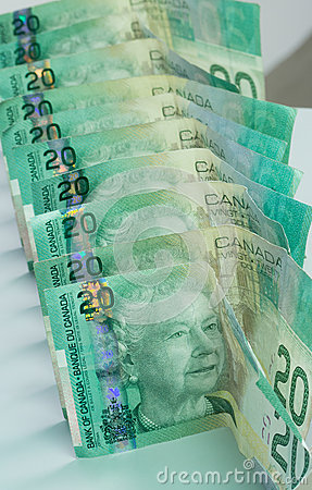 Portrait Canadian Twenty Dollar Bills Editorial Stock Photo