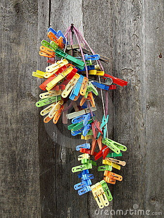 bunch of colorful cloth pegs