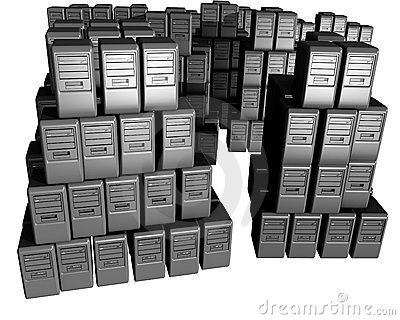 A Bunch Of Computers Pilled On Top Of Each Other Royalty Free Stock Photos - Image: 9632758