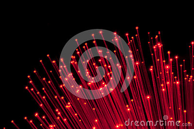 Bunch of Fiber Optic dynamic flying