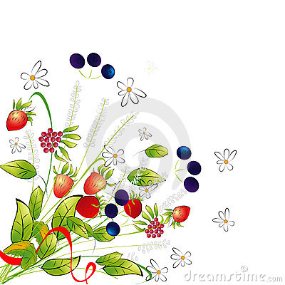 Bunch of flowers and berries