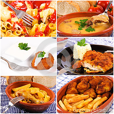 Bunch of food collage