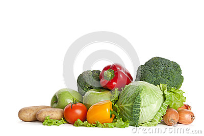 Bunch of fresh vegetables