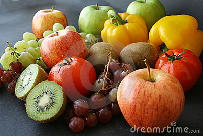 Bunch of fruits & vegetable