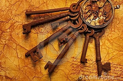 Bunch of keys with a gears