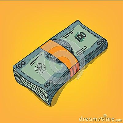 Bunch of money bills