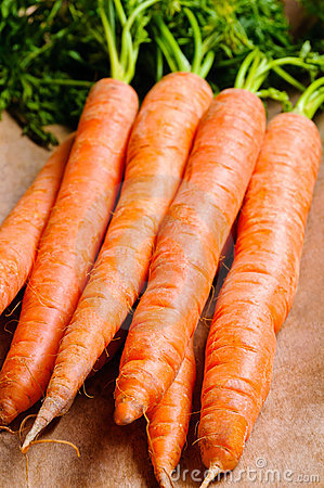 Bunch of natural carrots