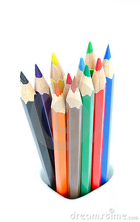 Free Bunch Of Colored Pencils Royalty Free Stock Images - 404359