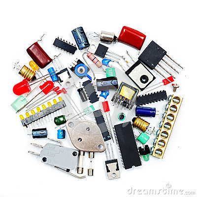 Free Bunch Of Electronic Components Royalty Free Stock Image - 48854876