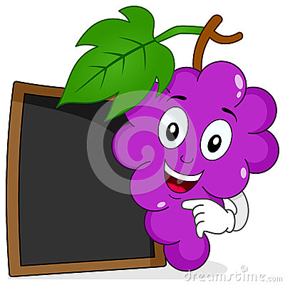 Free Bunch Of Grapes With Blank Blackboard Royalty Free Stock Photos - 56849088