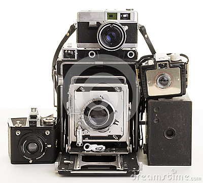 Free Bunch Of Old Vintage Film Cameras Royalty Free Stock Images - 30752639