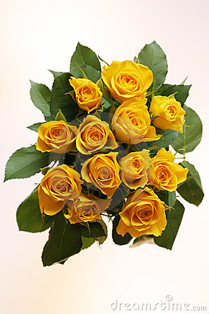 Free Bunch Of Yellow Roses Royalty Free Stock Photos - 96318