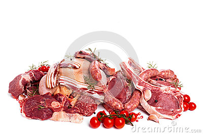 Bunch Of Raw Meat