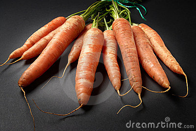 Bunch of raw Organic carrots