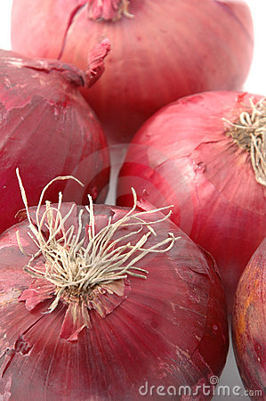 Bunch of red onions