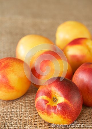 Bunch of ripe nectarine peaches