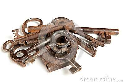 Bunch of rusty keys