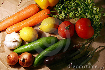 Bunch Of Vegetable & Fruits